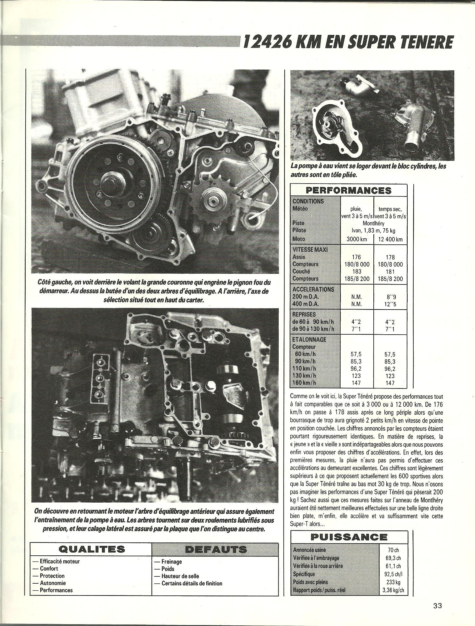 Essai longue durée 12'426km en Super ténéré 750 le 25 Mai 1989 193909p17001