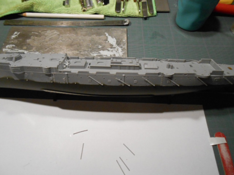 "Croiseur  Russe ""VARYAG"" Zvezda 1/350 pont en bois / PE  198575bat003"