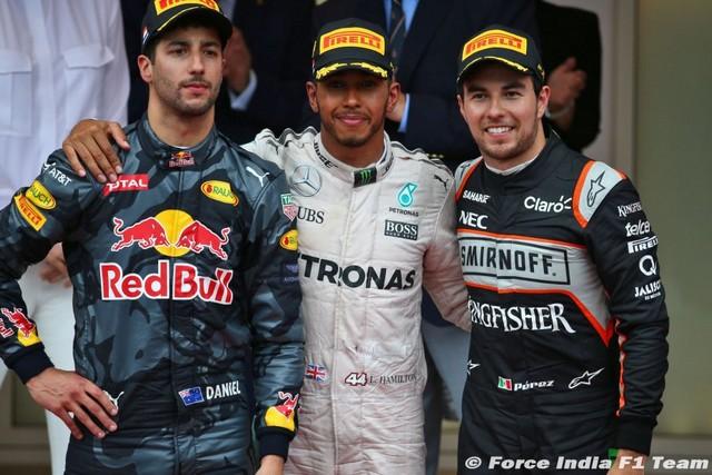 F1 GP de Monaco 2016 : Victoire de Lewis Hamilton 1986192016DanielRicciardoLewisHamiltonSergioPerez1