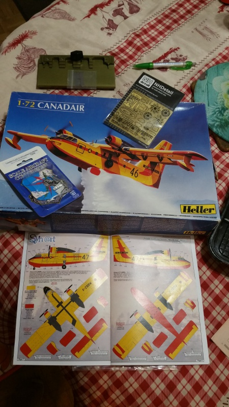CANADAIR CL-215 maquette HELLER au 1/72° ameliorations NHDetail, scale aircraft conversions & Syhart 20105920171217185944