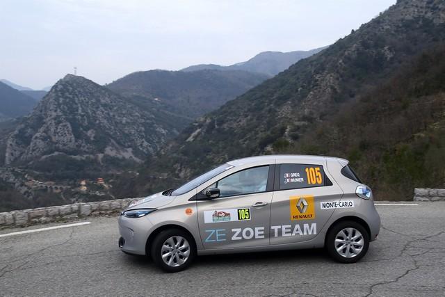 Renault ZOE truste les quatre premières places du 6ème Rallye Monte-Carlo ZENN 2063716722116