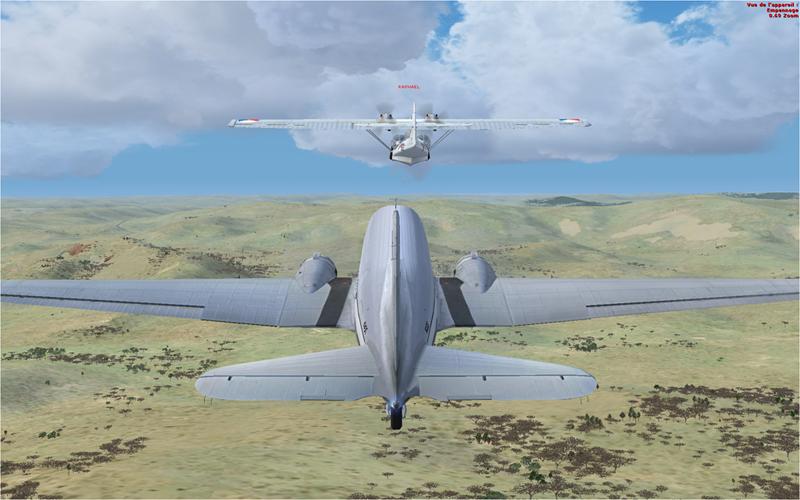 Vol en formation en Afrique (DC3) 2110072013222221352234