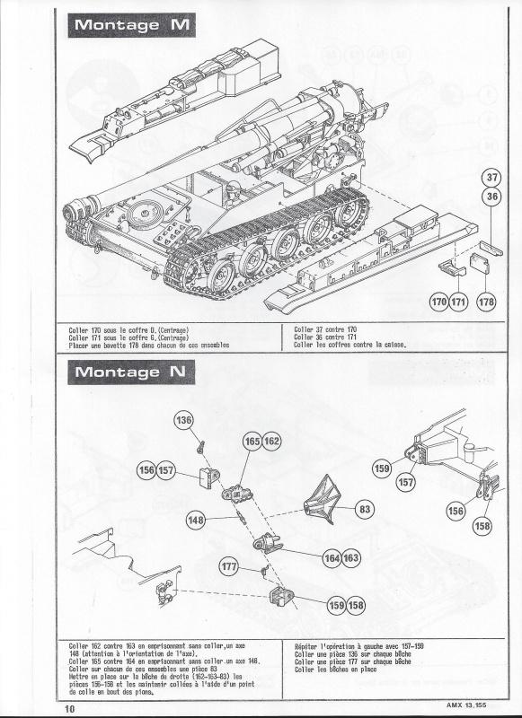 AMX 13 canon de 155 1/35ème Réf L 782 220629AMX13155782011Heller135