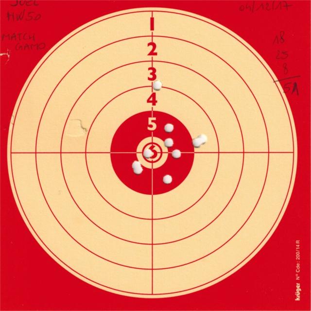 Tests plombs avec carabine Weihrauch HW50S 225216HW50GAMOMATCH