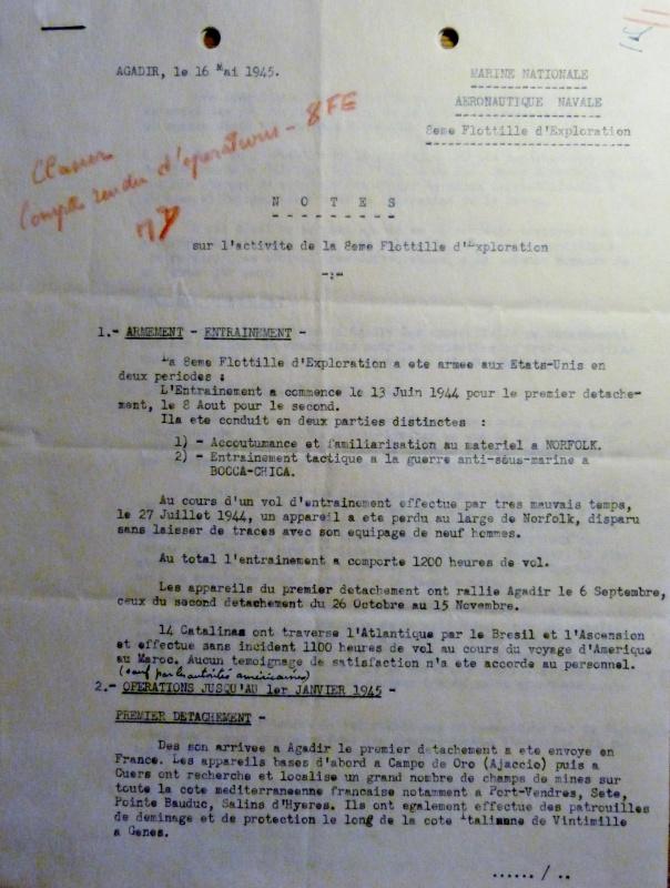 [ Aéronavale divers ] [ 1945-1950 L'histoire des grands oiseaux blancs à tête de loup noir en Indochine - Page 2 225704AG8FE450516noteactivits062
