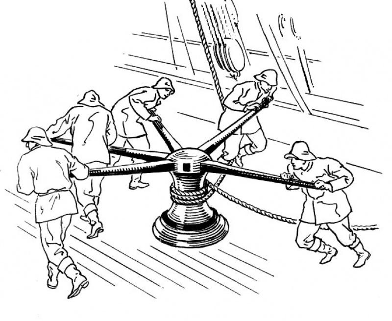 """Construction du """"Sovereign of the Seas"""" au 1/84 par Glénans - Partie II 231535CabestanPSF"""