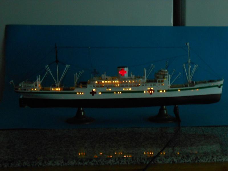 Hikawa Maru Hopital 1/350 pont/PE/babioles Hasegawa 242732DSCN6049
