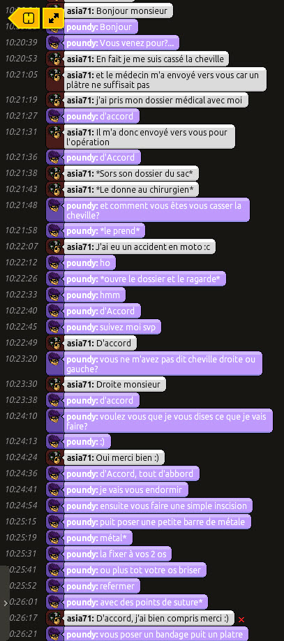 [Poundy] Rapports d'actions RP-Chirurgien 243124screenRPasia1