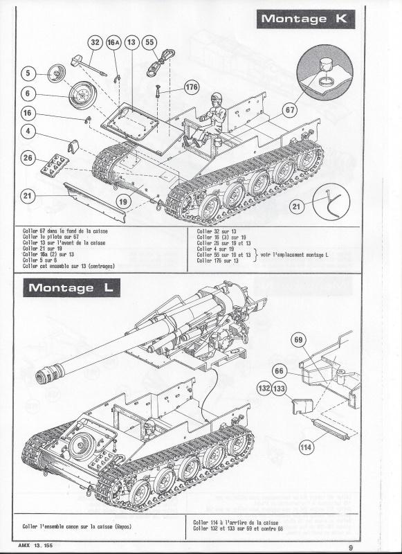 AMX 13 canon de 155 1/35ème Réf L 782 247327AMX13155782010Heller135