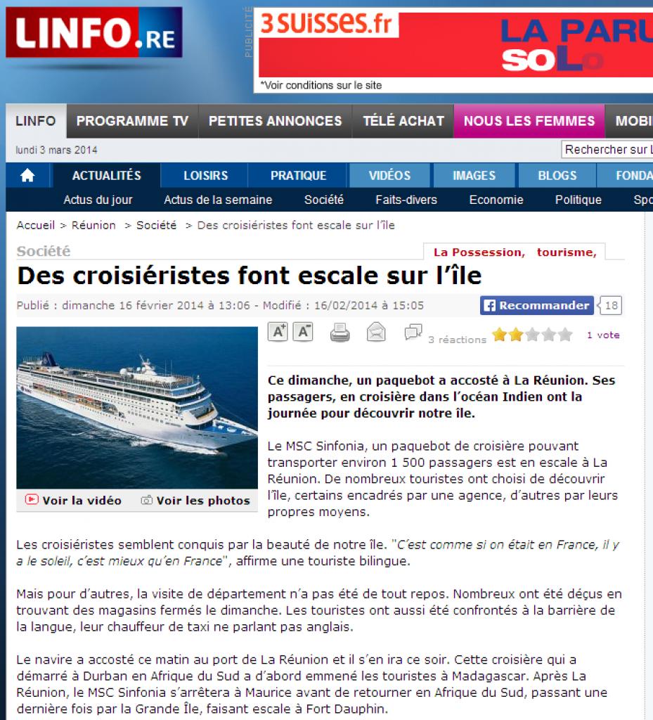 le 16/02/2014 - navire probablement - Ile de La Réunion St Benoit (Ile de La Réunion)  248976halika5