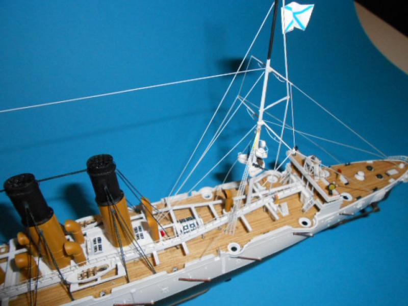 "Croiseur  Russe ""VARYAG"" Zvezda 1/350 pont en bois / PE  - Page 2 251686haub015"