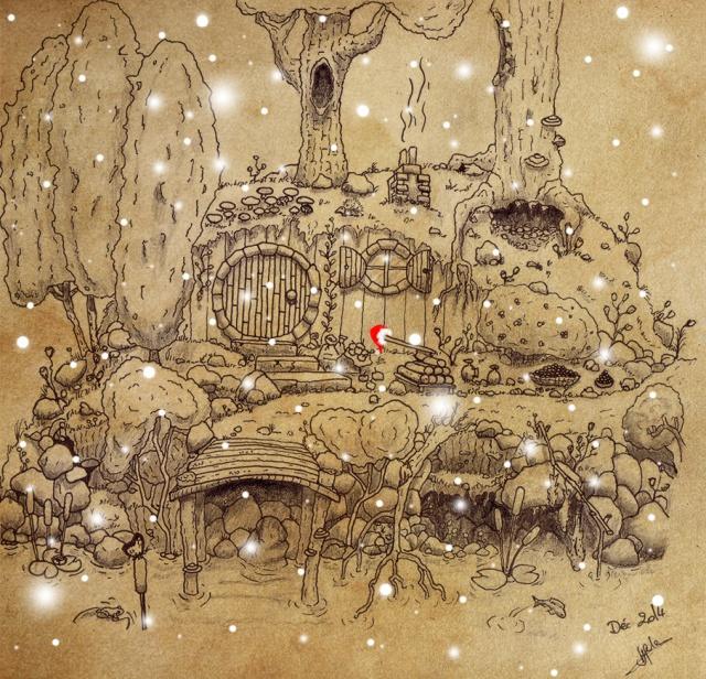 Concours de dessin n°2 : Noël  - Page 2 252490HobbitNoel