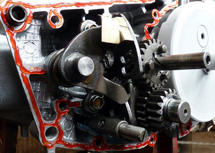 remontage d'un bas moteur d'une 125 TS 256520P1030397