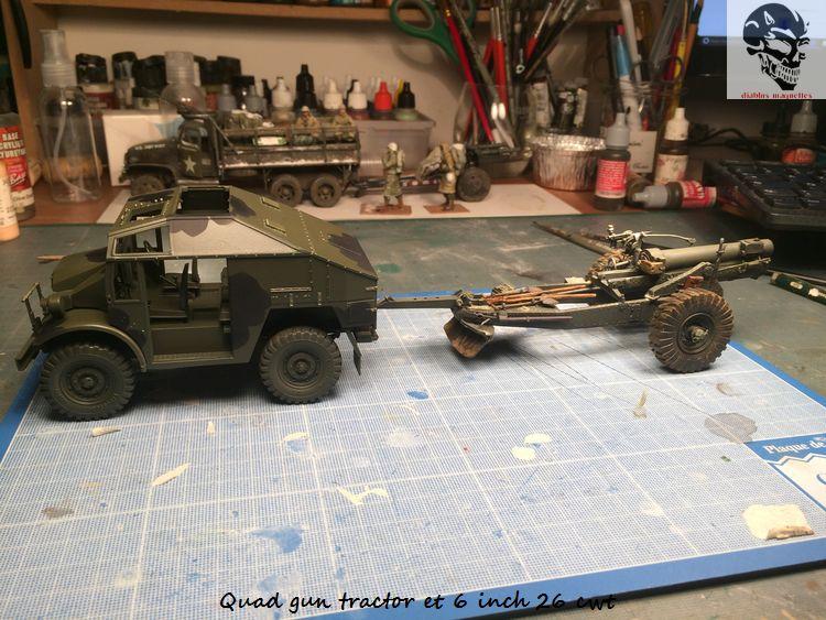 Quad gun tractor et 6 inch 26 CWT en Normandie 1/35 258343IMG4803