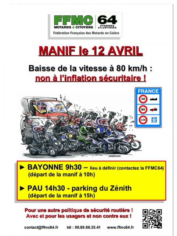 Limitation à 80 km/h : manifs FFMC les 12/13 avril 2014 260904manif