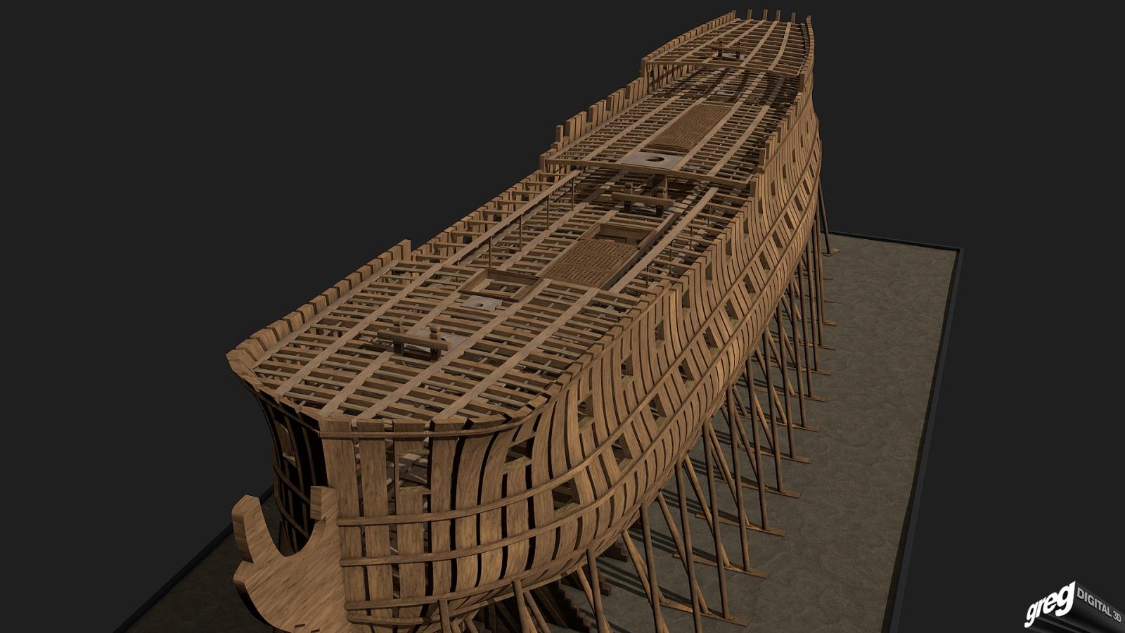 Vaisseau 74 canons Lucide [Création 3D] de Greg_3D - Page 4 262975Squeletteportes3