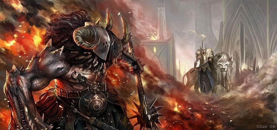[Warhammer Fantasy Battle] Images diverses 263456HighElfWhiteLionversesChaosMarauder