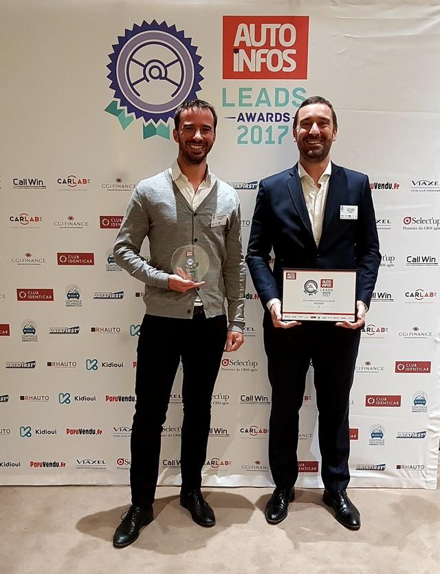 PEUGEOT reçoit le prix du Lead de l'année 2017 26380220171211215750
