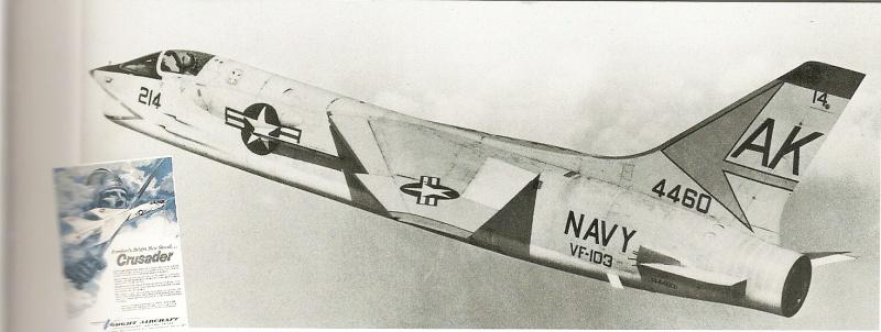 VOUGHT F-8 CRUSADER  267229VoughtF8U1VF103USSForrestalCVA59Med07580359