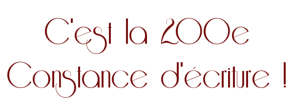 [SEMAINE 200!] Constance du 14 au 20 septembre 272035Constance200