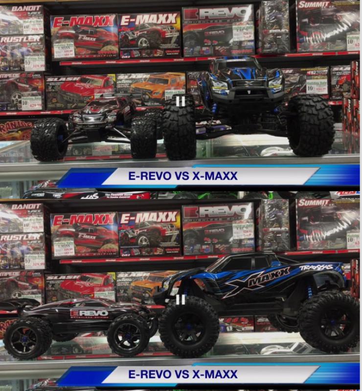 X-Maxx Comparaison taille avec d'autres modèles RC 276516Capture33