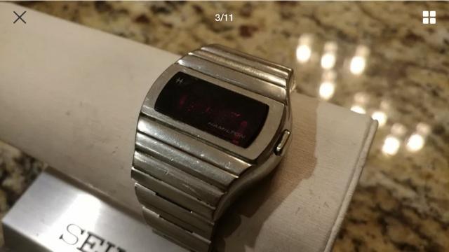 Hamilton QED 1 vintage LED watch 1973 27977240668E264D4D45688055510CA5EE2DC0