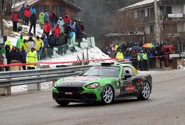 Premier test concluant en course pour l'Abarth 124 rally au 85ème Rallye de Monte-Carlo 294170170123AbarthNoberasco