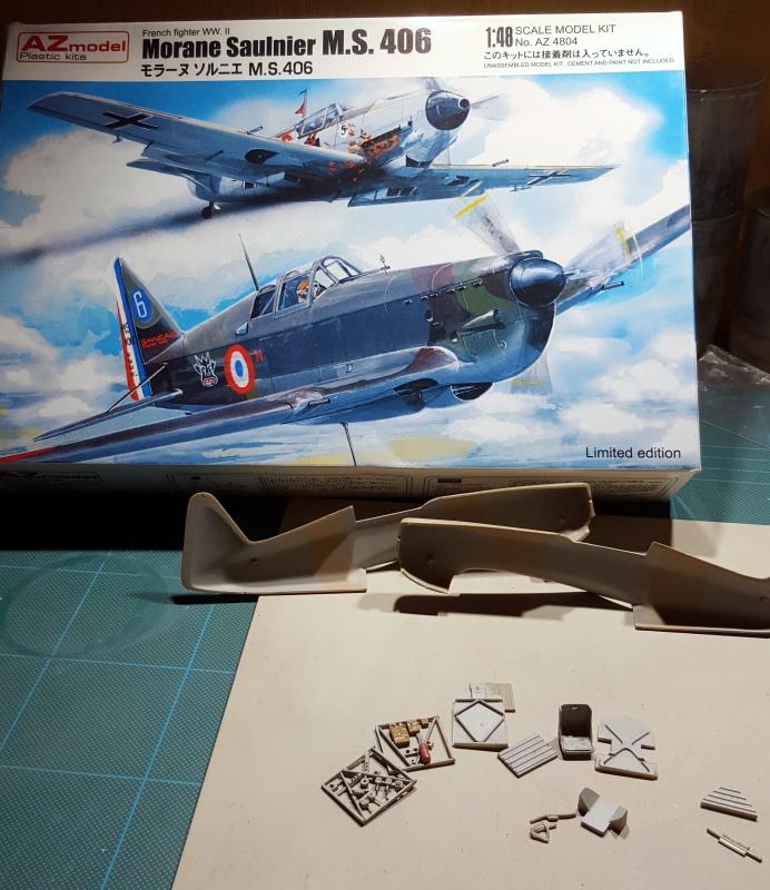 Morane Saulnier MS 406 - 1/48eme AZ Models  30384420151128171234