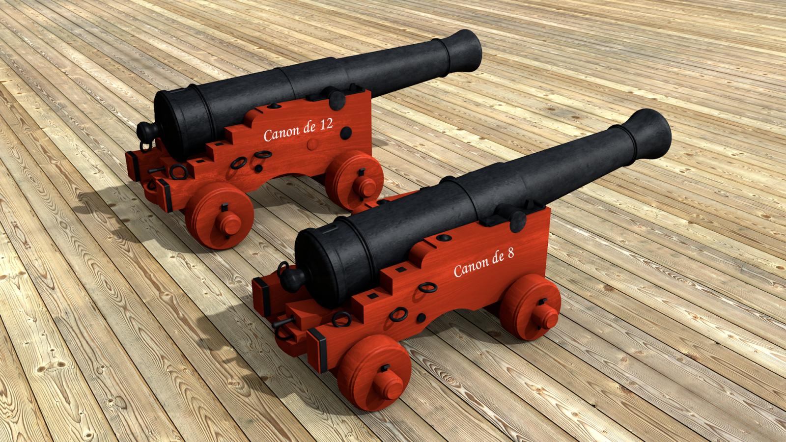Frégate 36 canons XVIII° [Création 3D] par Greg_3D - Page 4 306786canonretouche