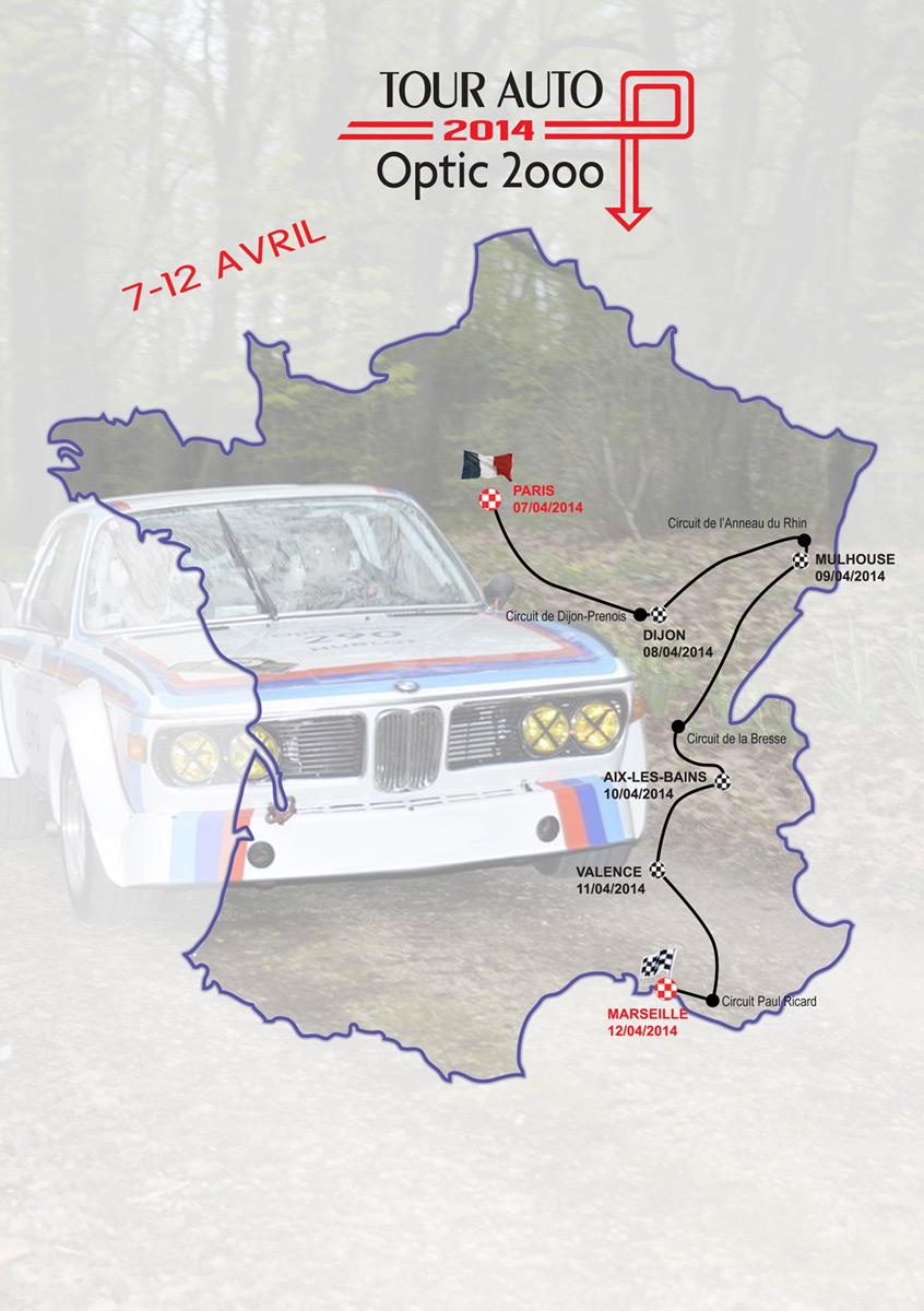 Tour de France - Voiture antiques 310962itineraire2014