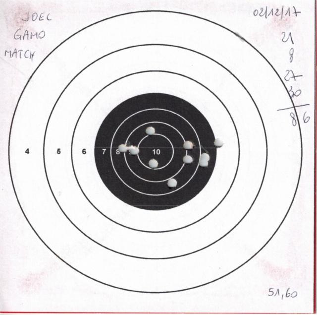 Tests plombs avec carabine Gamo Replay 312510GAMOREPLAYGAMOMATCH1
