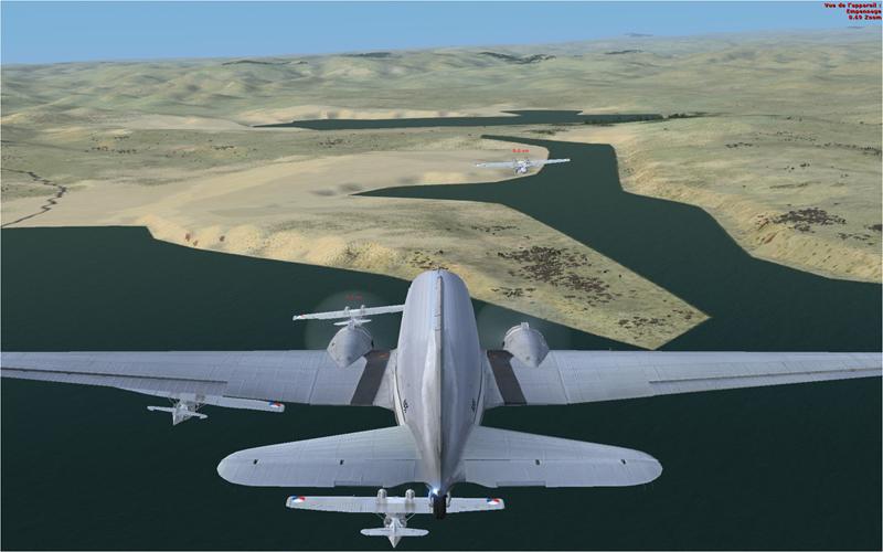 Vol en formation en Afrique (DC3) 312704201322221435517