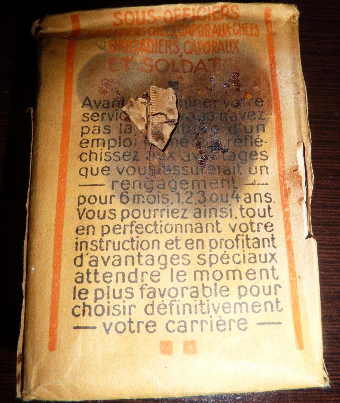 Paquet de cigarettes troupe variante inconnue 312840P1010915