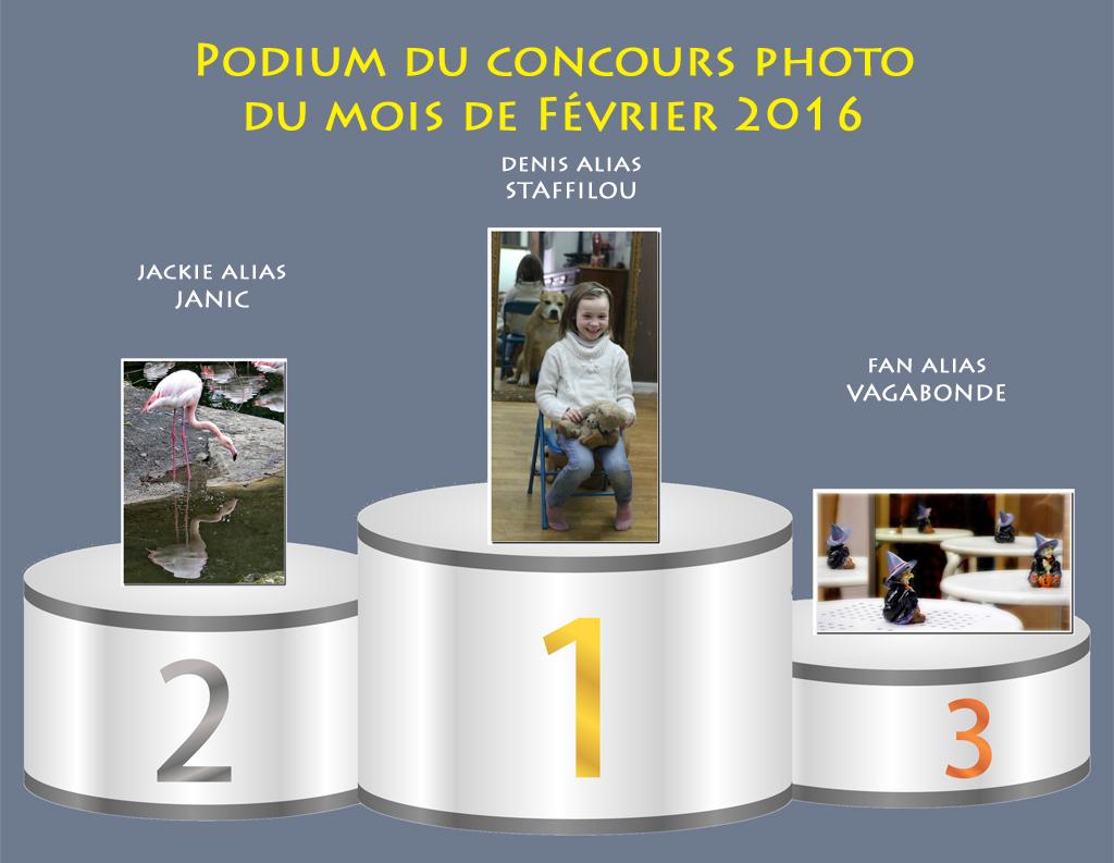 """Concours photo du mois de février 2016 - Thème """"Miroir, mon beau miroir"""" (terminé) 319456Podiumfvrier"""