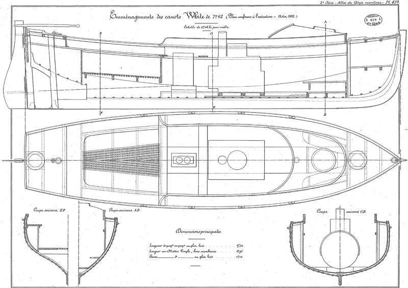 Croiseur Cuirassé Gloire 1/600 scratch intégral  - Page 4 319714canotWhite