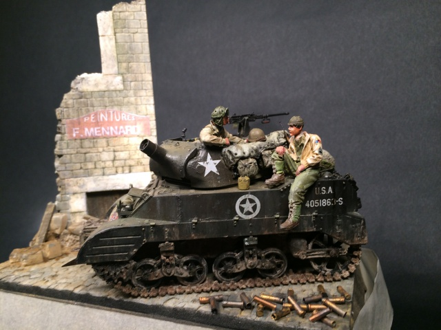 """""""Le laxatif"""" - M8 Howitzer unité """"Hell on Wheels"""" - 2nd Armored division, Normandie - Tamiya 1/35 323179IMG3485"""