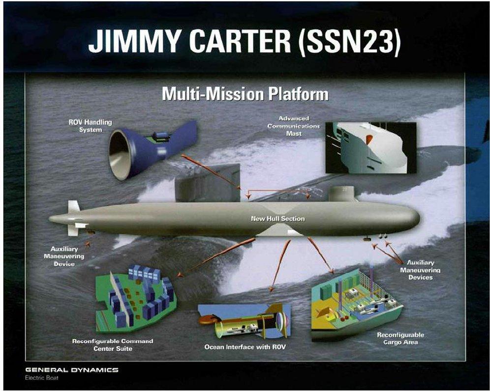 SSN 21 ET SSN 23 Seawolf Class 1/350 32370808002323