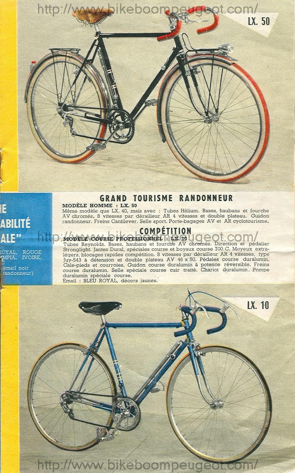 Peugeot LX 10 1958 tubes Reynolds  329043image