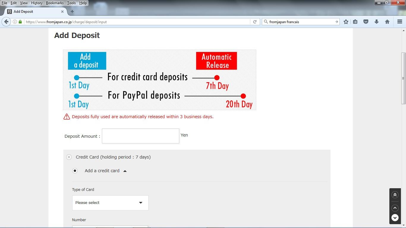 Commander sur Yahoo auction via un site proxy(intermédiaire) 329900deposit