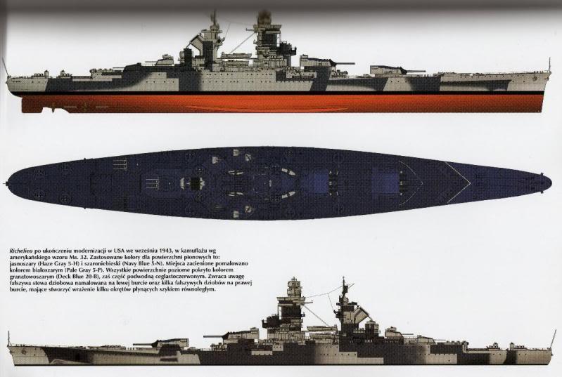 Cuirassé Richelieu 1/100 Vrsion 1943 sur plans Polonais et Sarnet + Dumas - Page 10 331272a10