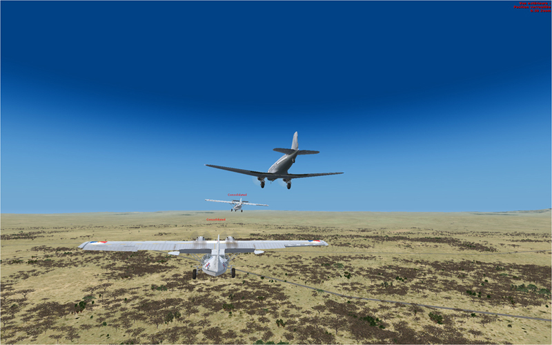 Vol en formation en Afrique (DC3) 3313652013222223211202