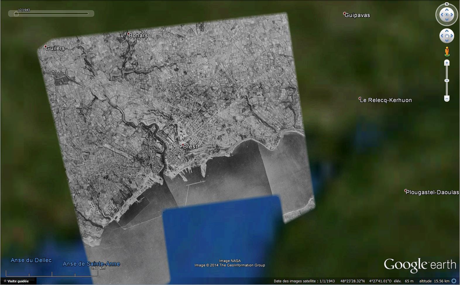 Les plus anciennes images disponibles dans Google Earth 333027Brest