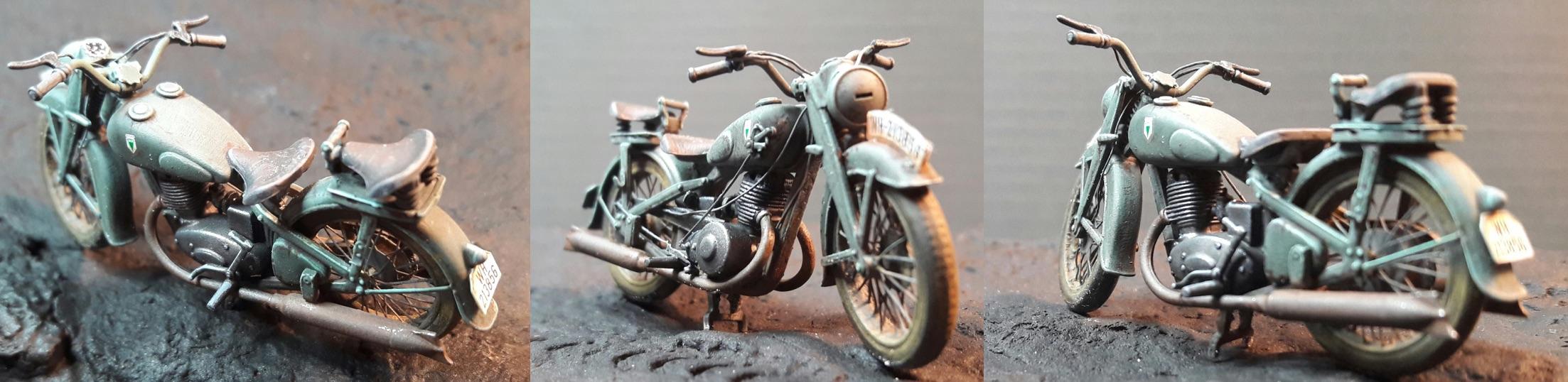 Zündapp KS750 - Sidecar - Great Wall Hobby + figurines Alpine - 1/35 - Page 5 336592DKW350