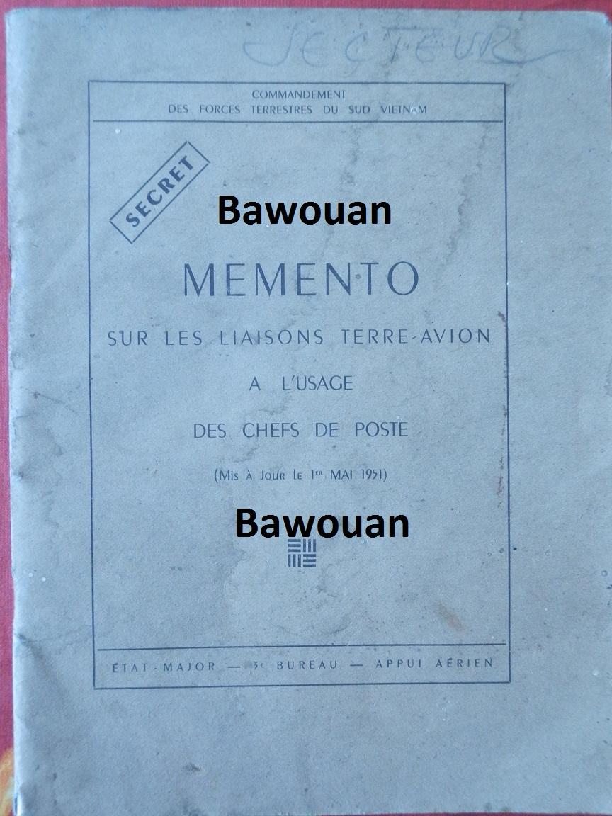 MEMENTO sur les liaisons Terre-avion à l'usage des chefs de poste en Indochine 1951 344206P7210507