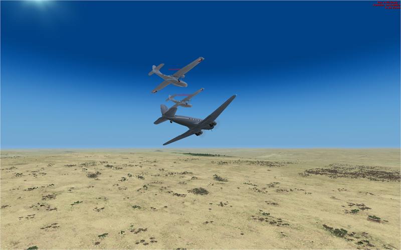Vol en formation en Afrique (DC3) 3477342013222222735381