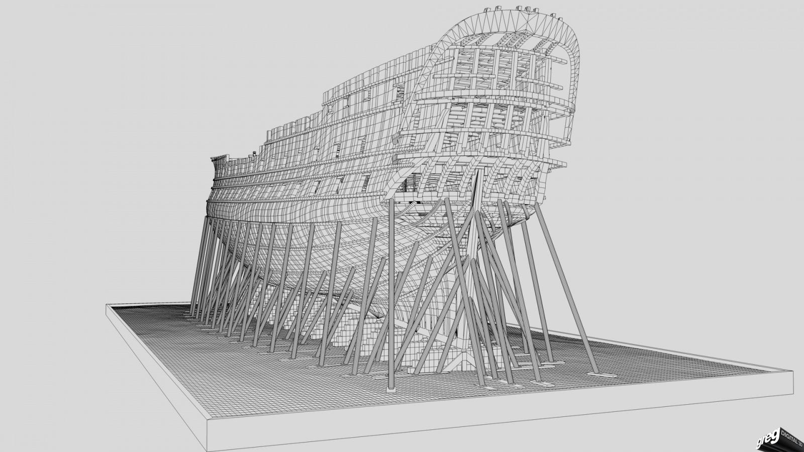 Vaisseau 74 canons Lucide [Création 3D] de Greg_3D - Page 6 349628Squelettemaillages