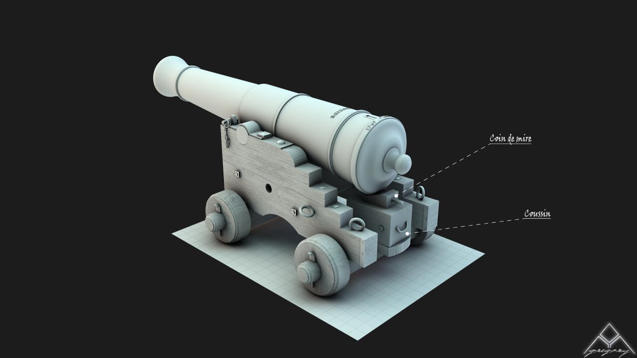 Canons pour le vaisseau de 74 canons - Page 2 354005Canon364