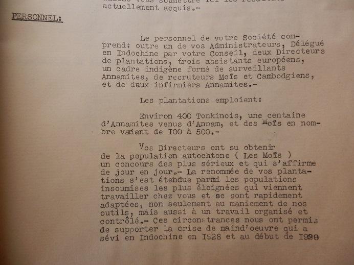 Mines d'Indochine, plantation de tabacs et d'hévéas ..... 354016P8120031
