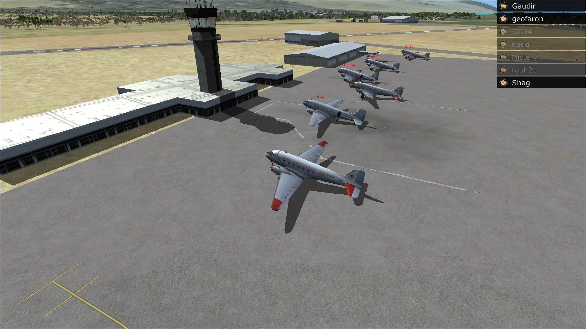 Vol en formation en Afrique (DC3) 35414820132222313558