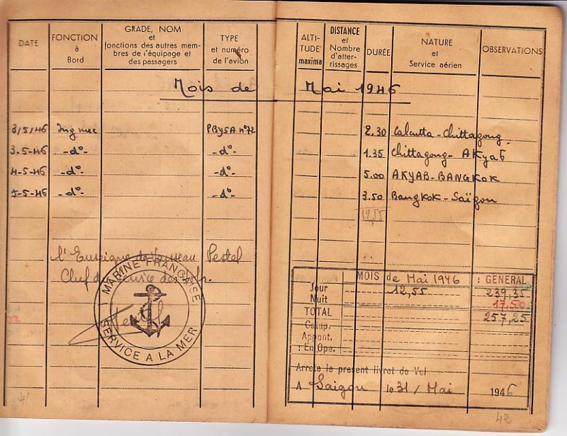 [ Aéronavale divers ] [ 1945-1950 L'histoire des grands oiseaux blancs à tête de loup noir en Indochine 359295CdV46p4142